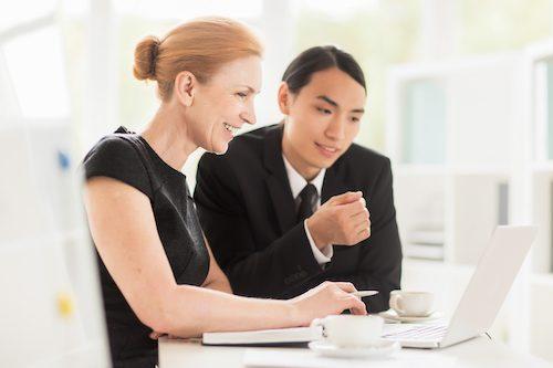 Corporate coaching meeting